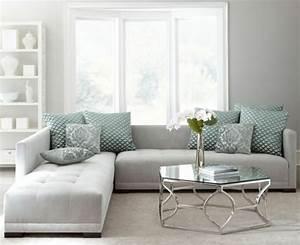un salon en gris et blanc c39est chic voila 82 photos qui With tapis de couloir avec canapé convertible scandinave bobodeco