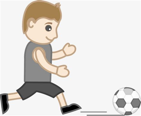Amazing Cartoon Kids Kick Ball Kids Kick Play Football Men