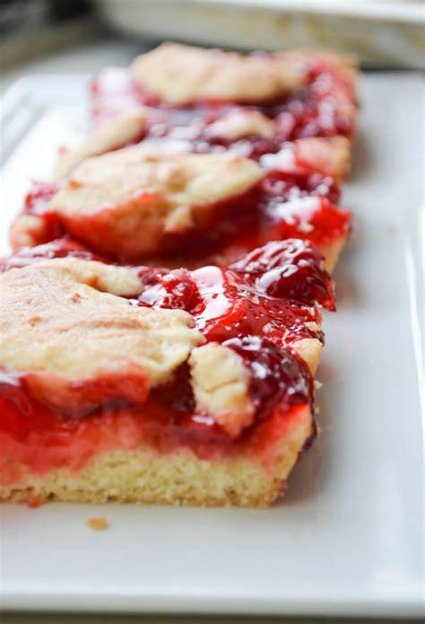 cherry kuchen bars rachel schultz cherry cake bars