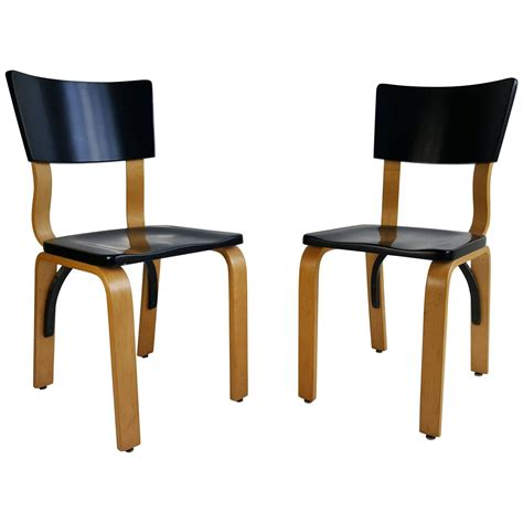 classic modernist bentwood side chairs by thonet for sale