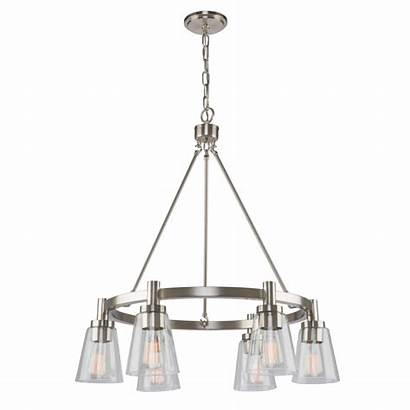 Artcraft Clarence Chandelier Brushed Nickel Lumens Lighting
