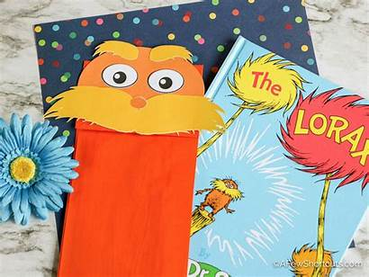 Puppet Lorax Paper Bag Craft Template Printable