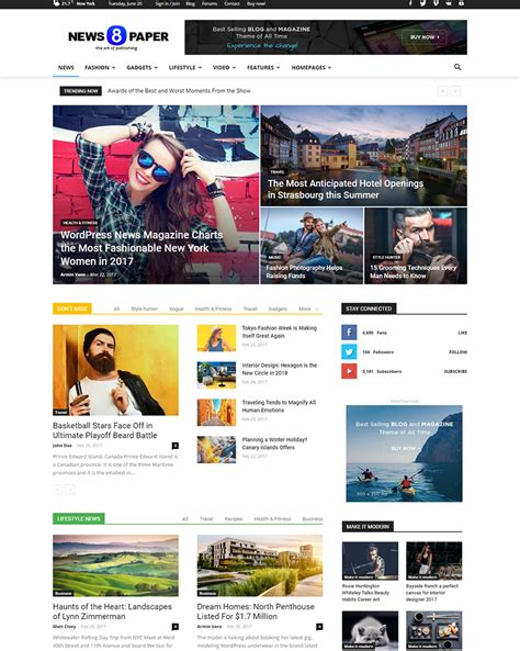 News Themes 20 Best News Themes Of 2017 Goodwpthemes