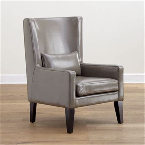 grey triton high back bi cast leather chair modern