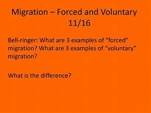 PPT - Migration – Forced and Voluntary 11/16 PowerPoint ...