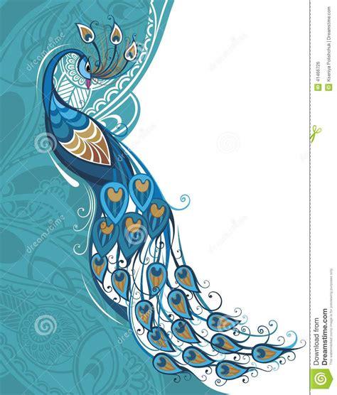 peacock card stock vector image