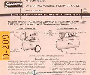 Dayton Air Compressor  All Models  Operations And Service