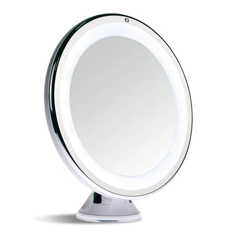 makeup light mirror sanheshun makeup mirror 10x magnifying lighted compact