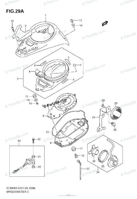 suzuki motorcycle  oem parts diagram  speedometer