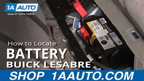locate  disconnect battery buick lesabre pontiac