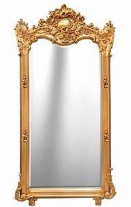 Grand Miroir Rectangulaire Baroque Dor