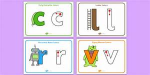 letter formation posters curly caterpillar one armed robots With robot letters handwriting