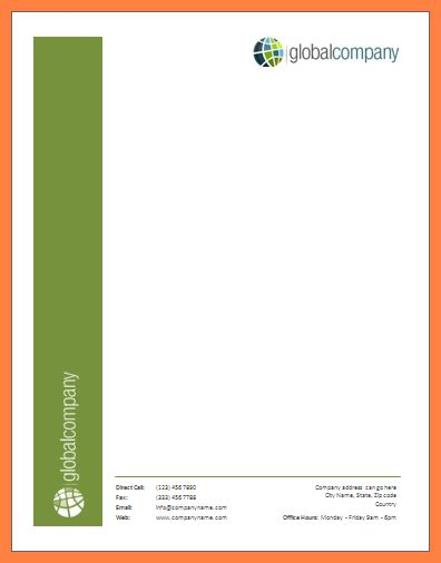 ms word letterhead template company letterhead