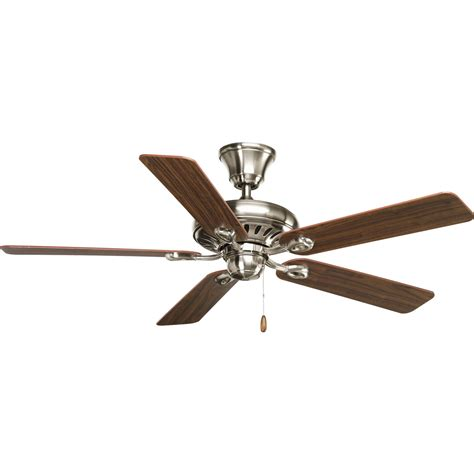 40 inch ceiling fan with lights progress lighting p2521 09wa signature brushed nickel 52