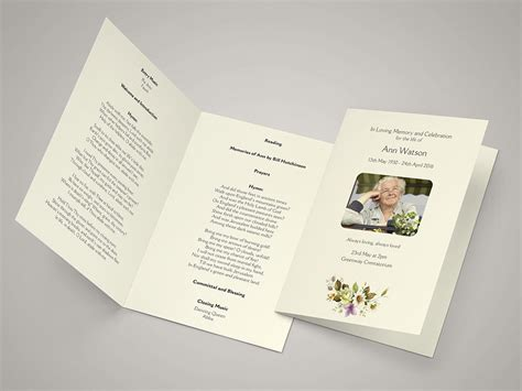 funeral order of service template illustration funeral order of service funeral hymn sheets