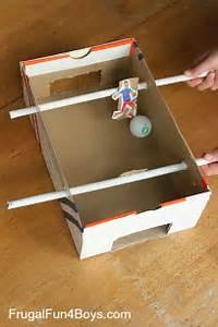Make a Shoebox Foosball Game