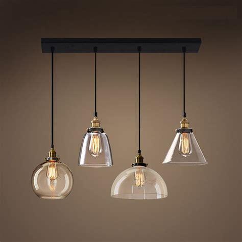 lukloy retro glass pendant lights led kitchen lights led