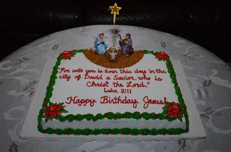 nativity scene happy birthday jesus cake