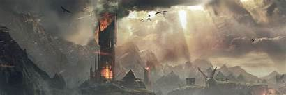 Dual Monitor Potter Harry Mordor Middle Earth