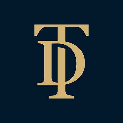 creative elegant  curve vector logotype premium letter td  dt logo design luxury linear