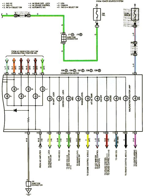 Wiring A 1 4 Instrument by I Need The Wiring Diagram For The Instrument Cluster On A