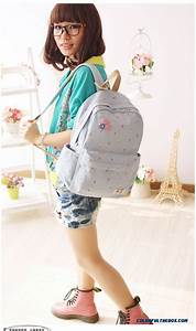 Cheap Fashion Canvas Backpack Girl Junior High School ...