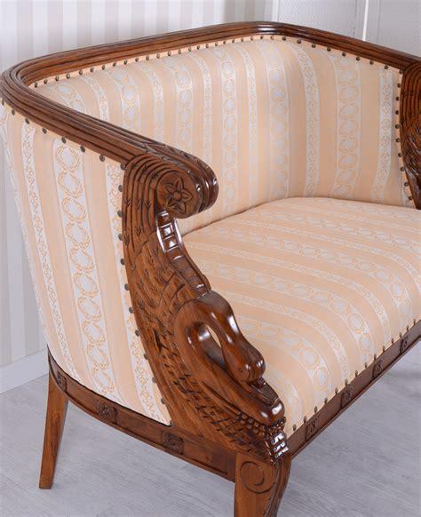 banc canape ancien canapé canapé rembourré acajou banc vintage canapé