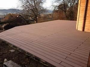 Lambourde Terrasse Composite : pose terrasse bois composite forexia ~ Premium-room.com Idées de Décoration