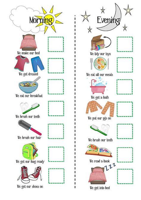 Kids Routine, Printable, Morning Routine, Evening Routine