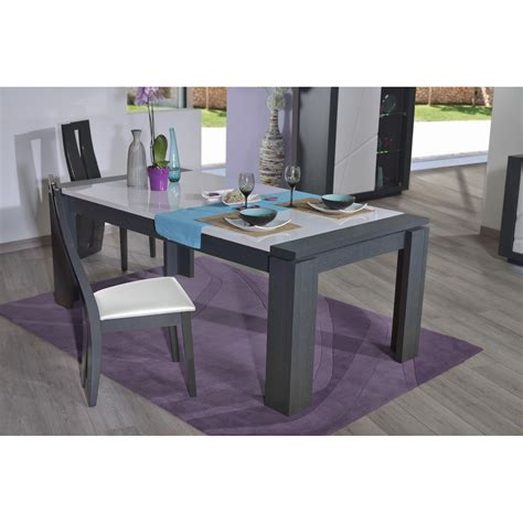 white quartz dining table quartz extendable dining table with dark wood body