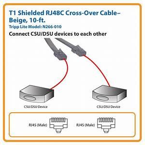 Amazon Com  Tripp Lite T1 Shielded Rj48c Cross
