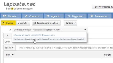 raccourci bureau windows créer un alias de votre adresse laposte