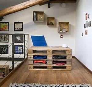 Deco Murale Blanche : bureau en bois 34 id es diy tr s cool en palette europe ~ Teatrodelosmanantiales.com Idées de Décoration