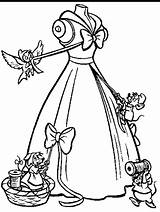 Cinderella Coloring Pages Mice Carriage Disney Gown Printable Drawing Princess Help Colouring Adult Pumpkin Mouse Making Clothes Getcolorings Glass Shoe sketch template