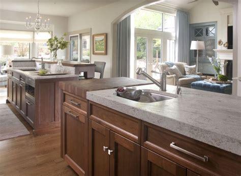 butcher block granite kitchen