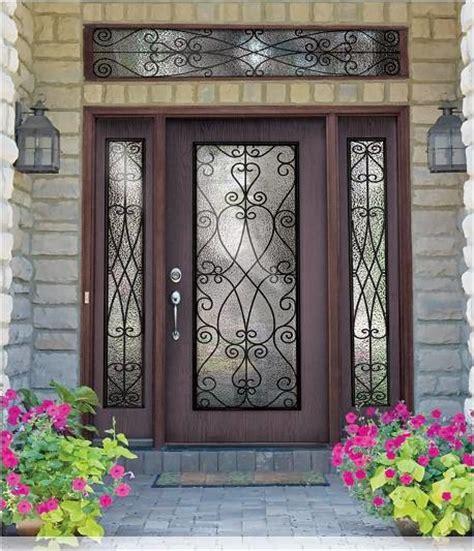 Fiberglass Front Doors by Woodgrain Fiberglass Doors Traditional Front Doors