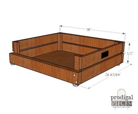pallet dog bed diy plans cut  wood