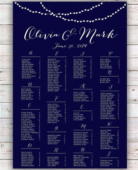 wedding seating chart poster template sampletemplatess sampletemplatess