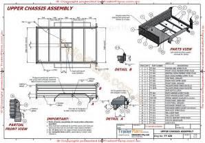 custom plans custom trailer designs trailer plans