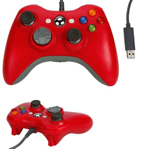 New Red Usb Wired Game Pad Controller For Microsoft Xbox