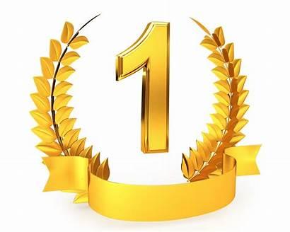 Number Winner Award Golden Wreath Clipart Slide