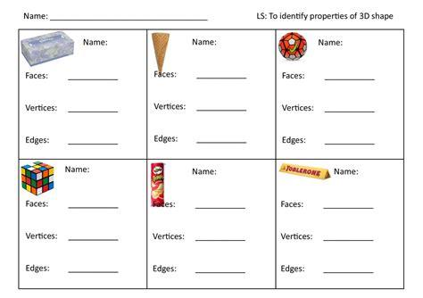 worksheets on 3d shapes ks1 2d shapes properties worksheet ks1 3d shape teaching