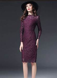 Kate Middleton Grape Lace Long Sleeve Cocktail Dress ...