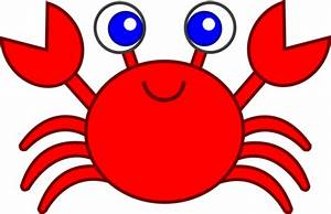Cute Red Crab Clip Art - Free Clip Art