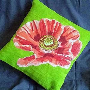 Thredhed  Appliqu U00e9 Flower Cushion Cover Instructions