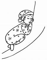 Sleep Coloring Pages sketch template