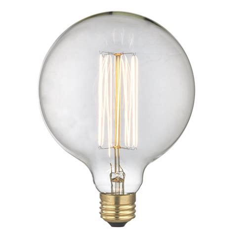 globe light bulbs vintage edison g40 globe light bulb 60 watts 60g40