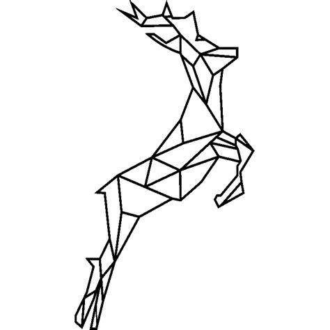 sticker cerf en origami