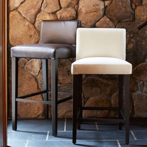 porter leather bar counter stool ivory west elm