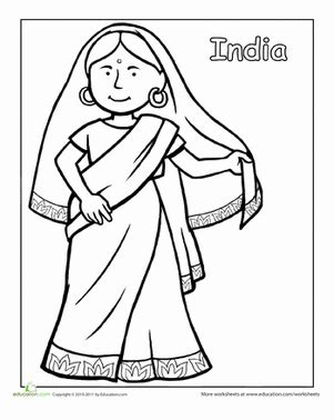 indian traditional clothing worksheet educationcom